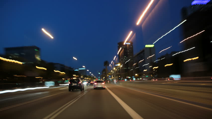 A time lapse driving to the city center in Barcelona. 
