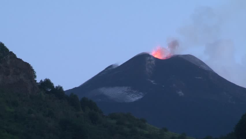 Volcano eruption (Etna  06/15/2014)