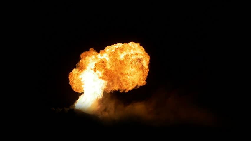 A huge fireball lights up the night sky.  Shot at 96fps.