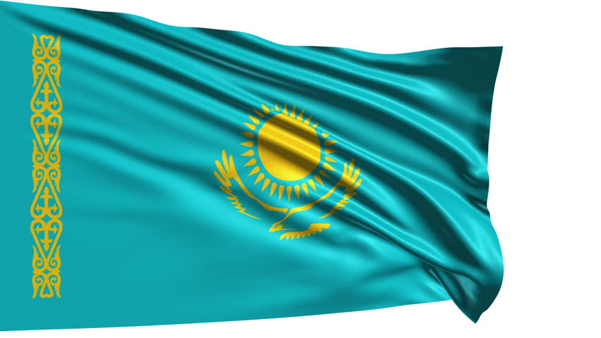 Stock Video Clip of Animation of the full fluttering ... |Kazakhstan Animation