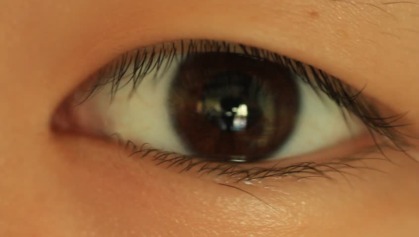 extreme close up of eye opening slowly stock footage video