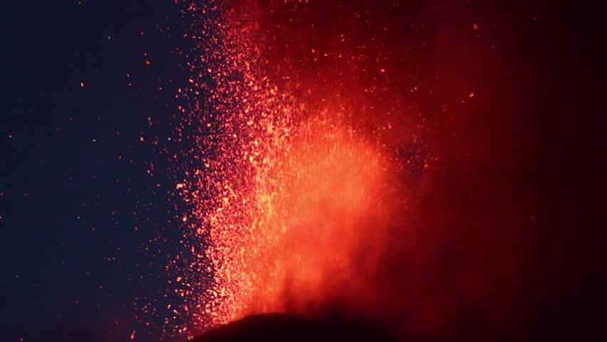 Volcano Etna eruption in 16, June 2014 - Catania, Sicily