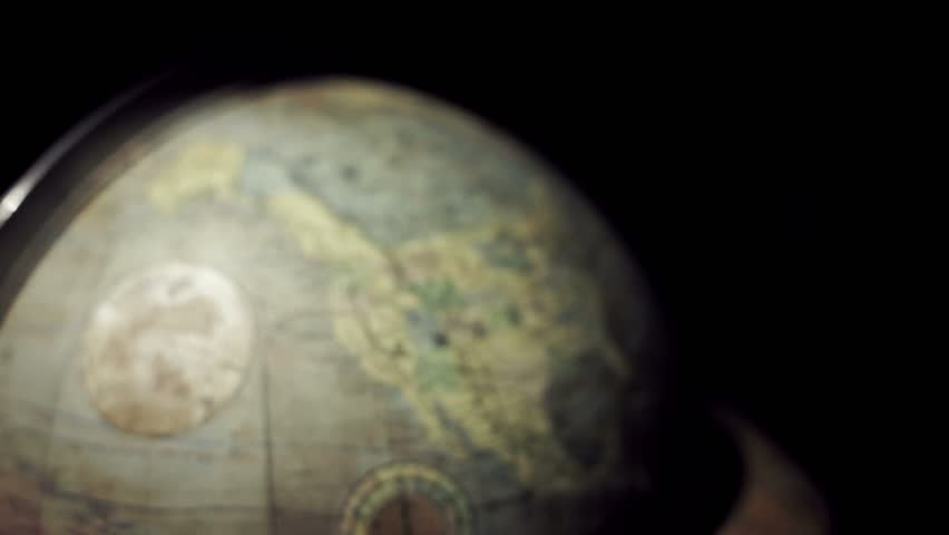 Close-up of the American continent in a terrestrial globe