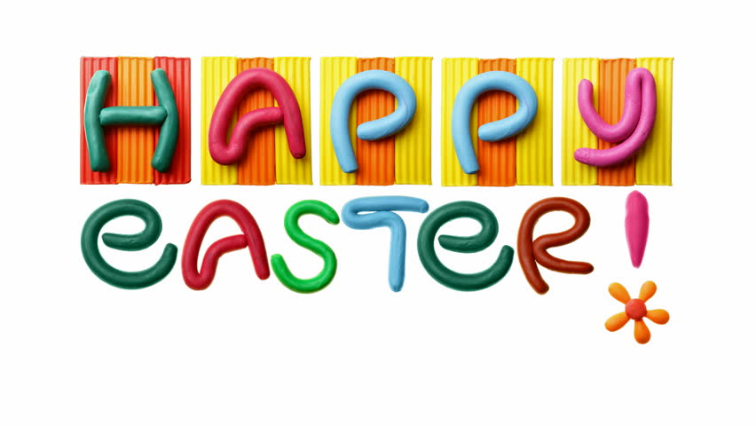 HD animated text Happy Easter! - HD stock footage clip