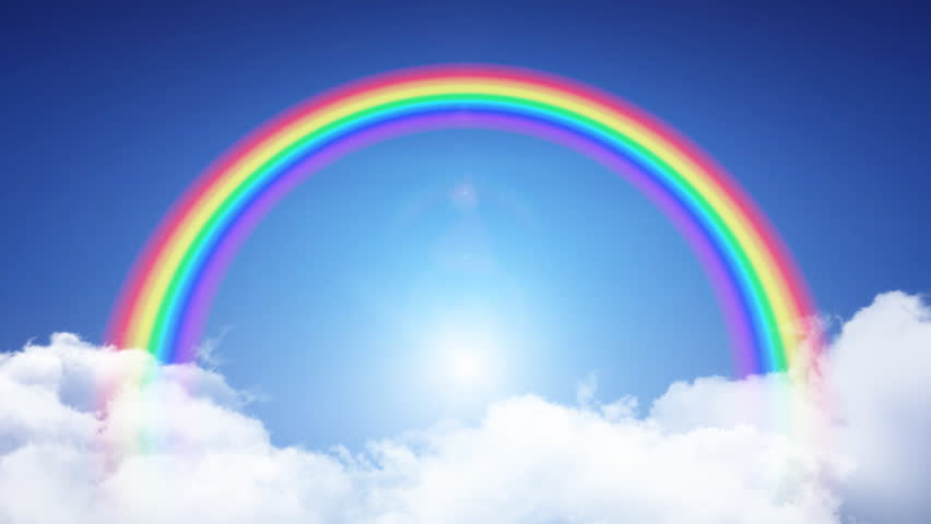 Rainbow In The Sky Stock Footage Video 687001 Shutterstock