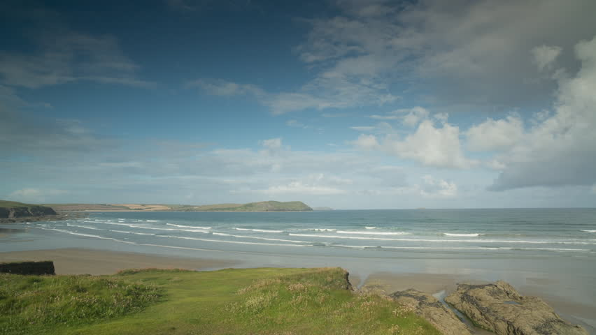 Beautiful video of stunning polzeath beach in cornwall, england