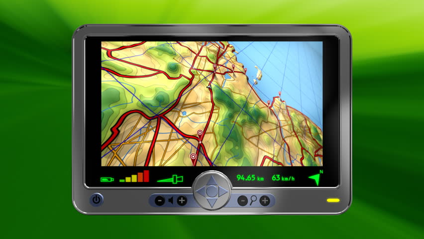 gps road map animation loop  following a vehicle along a