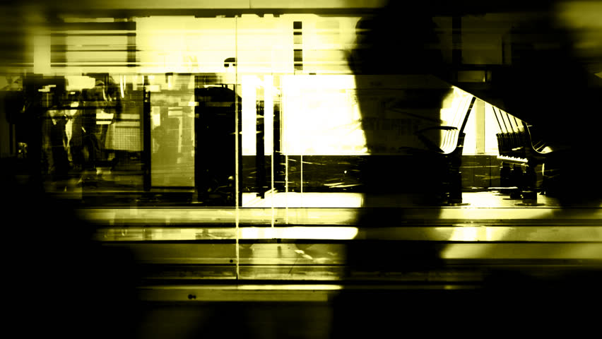 Blurred fast moving silhouettes - HD stock video clip