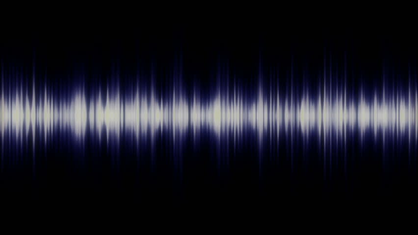 spectrum analyser HD stock footage. A visual display of sound as seen on a sound mixer or amplifier in blue.