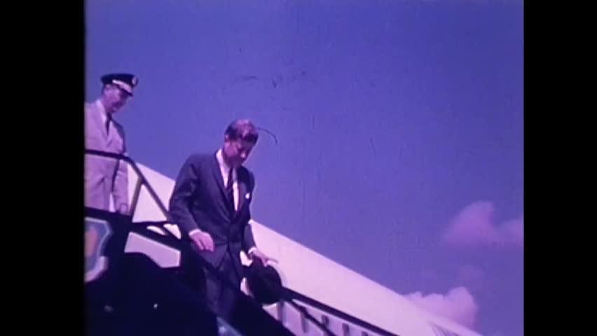 CIRCA 1960s - President John F. Kennedy tours the Marshall Space Flight Center with Dr. Wernher von Braun in 1962.