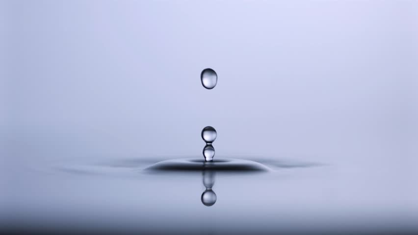 Slow motion Water drop shooting with high speed camera, phantom gold.