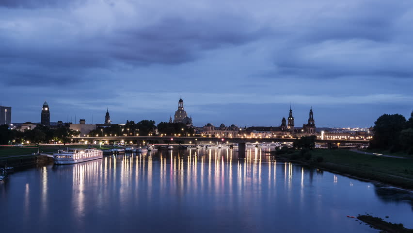 Time lapse sequence of dawn in Dresden