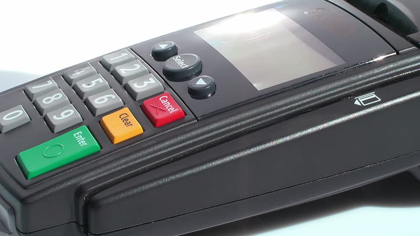 HD 1080 - Credit Card Terminal_scene 02 - HD stock video clip