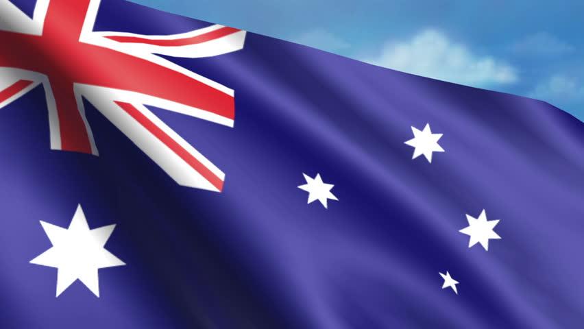 Australian Flag Animation – 4K Resolution Ultra HD - 4K stock video clip