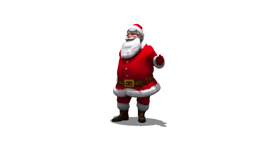 Santa Dance 4K - seamless loop comes with Alpha
