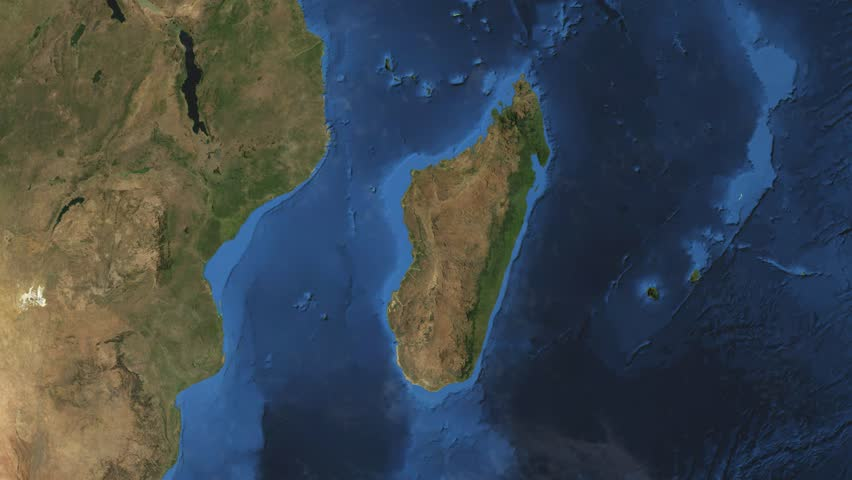 """Madagascar. 3d earth in space - zoom in on Madagascar contoured. """"Elements of this image furnished by NASA"""""""