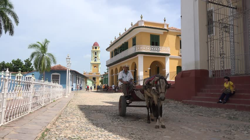 TRINIDAD,CUBA-AUGUST 22, 2014: Trinidad is a town in the province of Sancti Spíritus,Cuba. Together with the nearby Valle de los Ingenios, it has been one of UNESCOs World Heritage sites since 1988.
