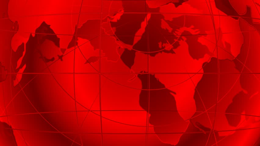 World Map. Loop Able Media Background. Red. Stock Footage ...