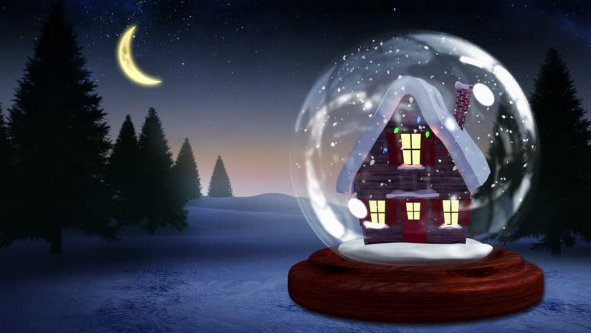 House Snow Globe House Inside Snow Globe