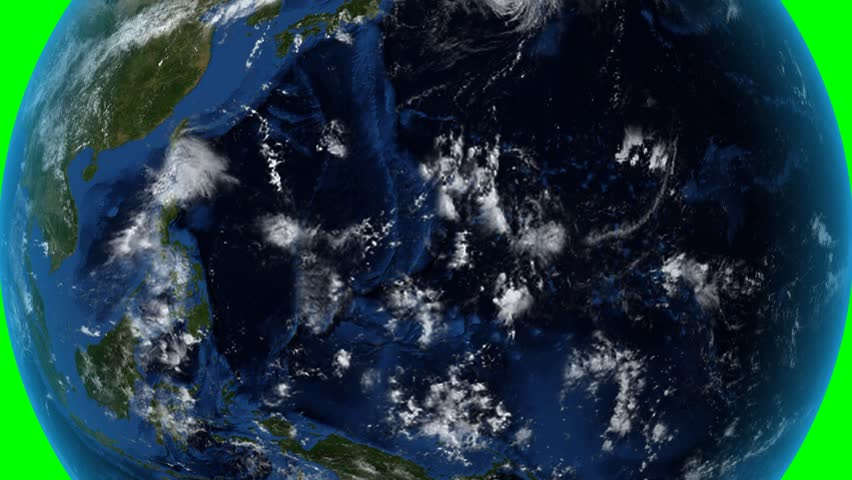 Philippines. Zoom in on Philippines outlined on green. Elements of this image furnished by NASA