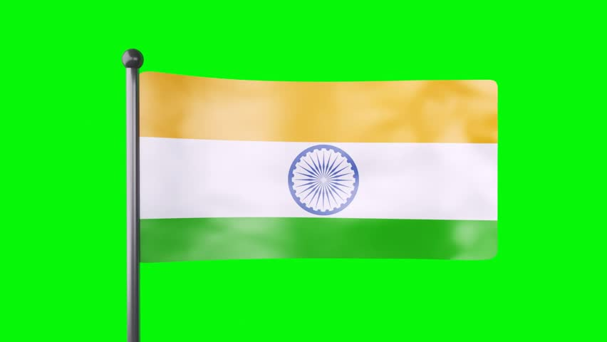 For Indian Flag Hd Animation: Indian Flag Converging Animation Stock Footage Video