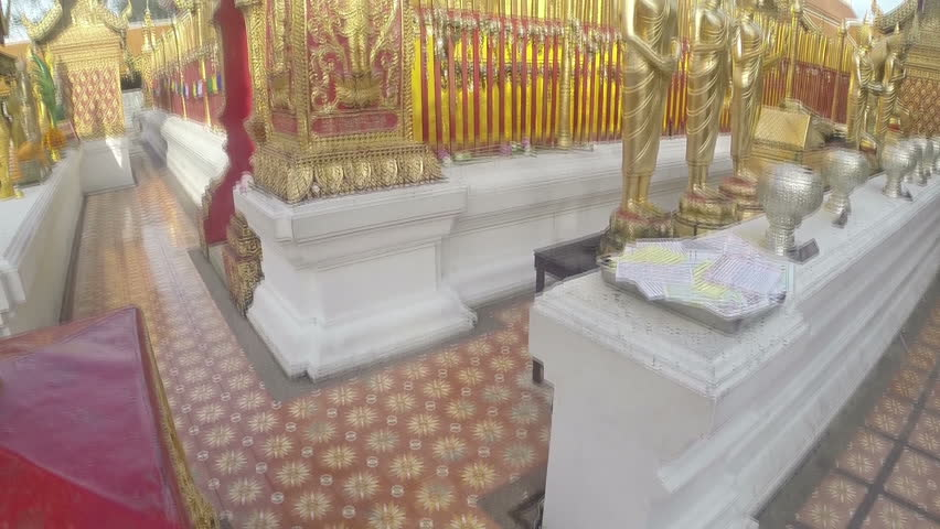Golden Wat In Thailand