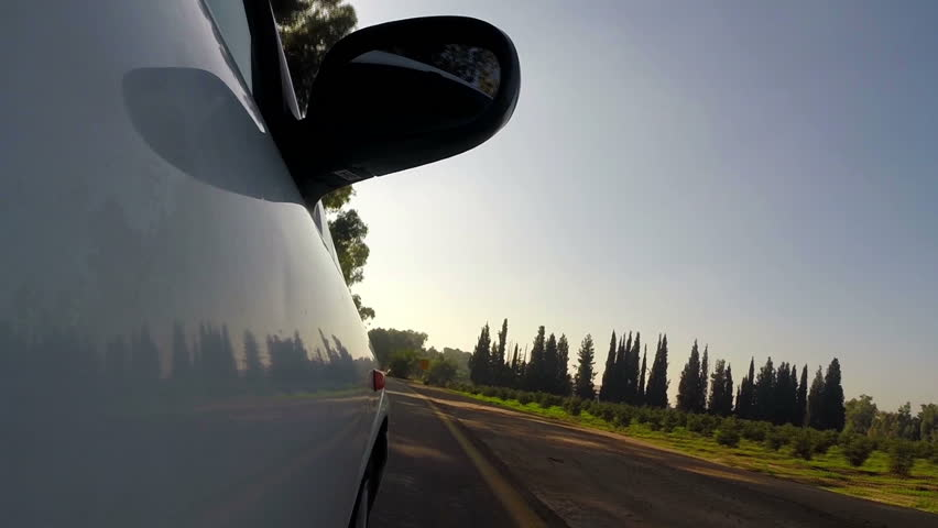Beautiful view of car riding on the road.