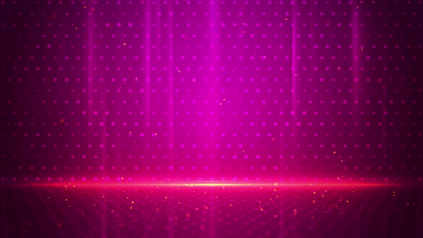 Purple Stripes And Particles Tech Background. Loop ...