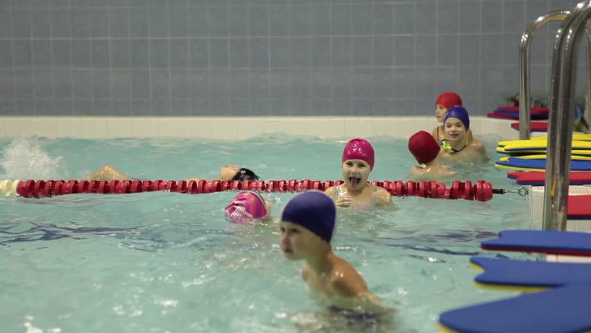 Saint petersburg russia circa dec 2014 kids put off for Pool show 2014