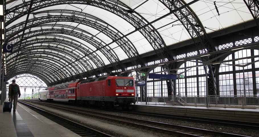 Berlin germany june 30 2014 train pass in german for Berlin to dresden train