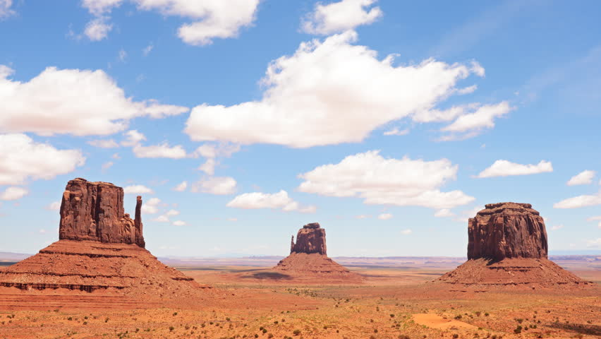 """4K Time lapse footage of the famous photogenic spectacle of """"The View"""" in Monument Valley, Utah"""