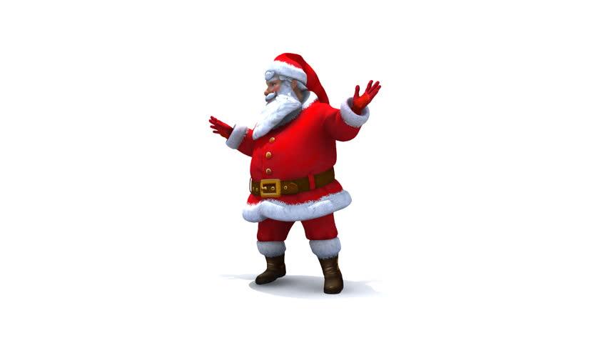 Santa dancing loop, comes with Alpha. - HD stock video clip