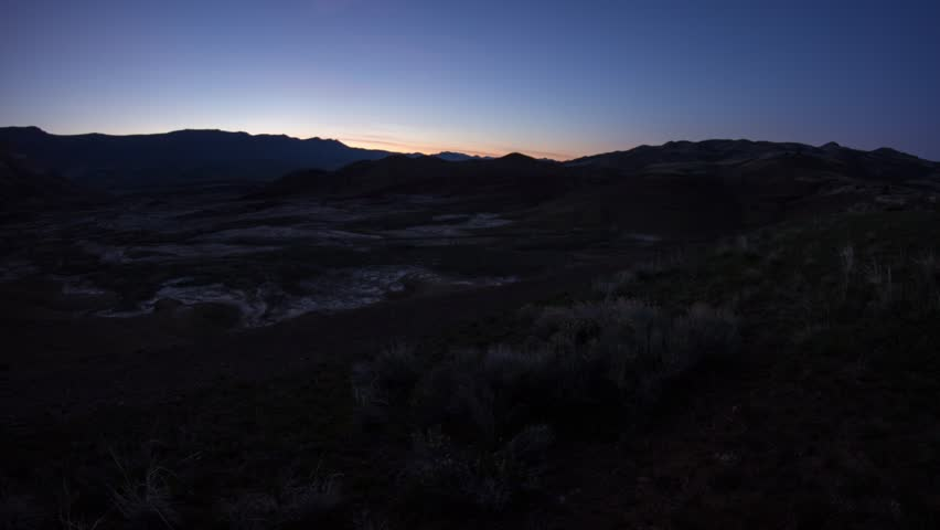Time lapse of sunset at Painted Hills, Oregon