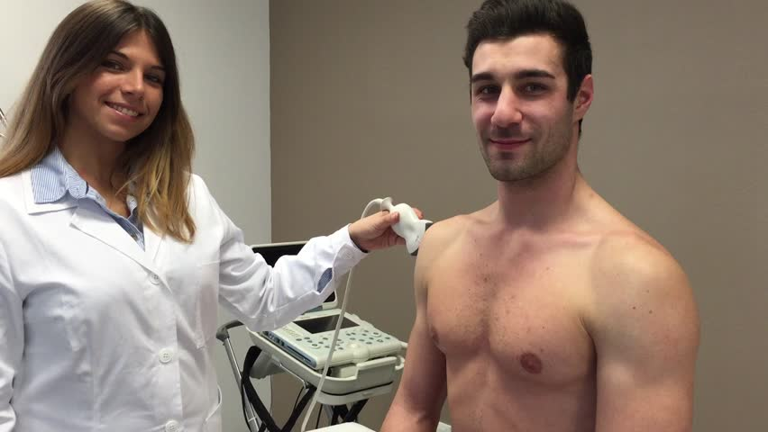 Female Doctor Giving Physical To Male - Hot Nude