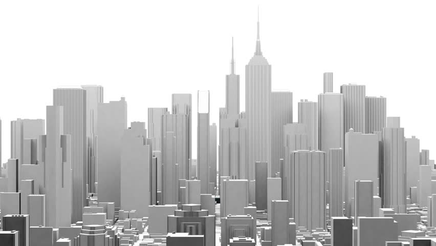 City Office Buildings Fly Orbit (3D) 4K Animation