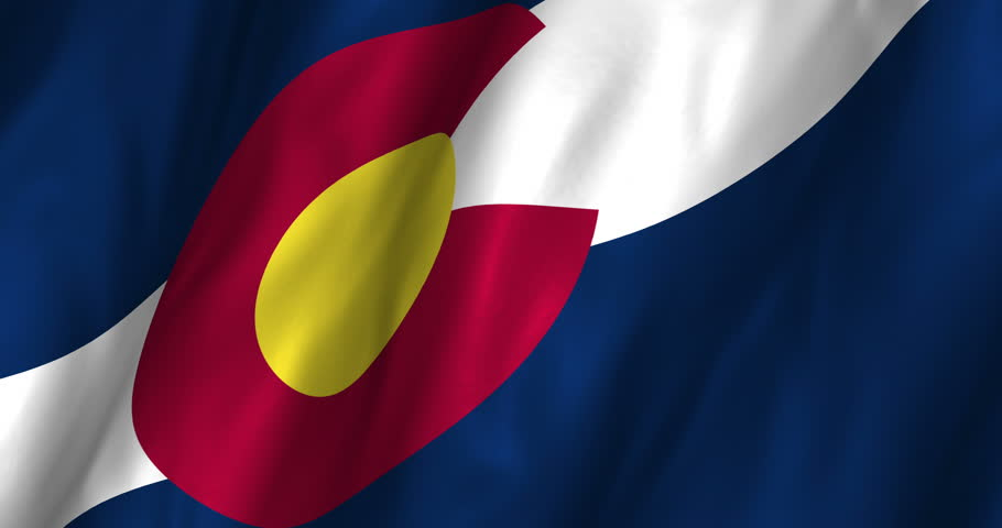 A beautiful satin finish looping flag animation of Colorado. A fully digital rendering using the official flag design in a waving, full frame composition. The animation loops at 10 seconds.  - 4K stock video clip