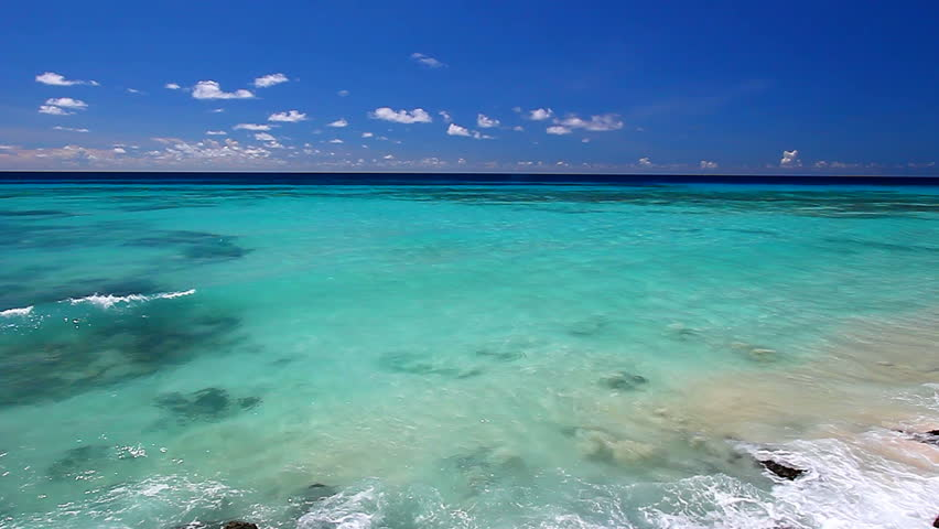 Barbados Waves and Beach Landscape  | Shutterstock HD Video #9066452