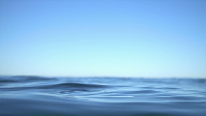 Slow Motion Ocean Water Texture Background  - HD stock footage clip