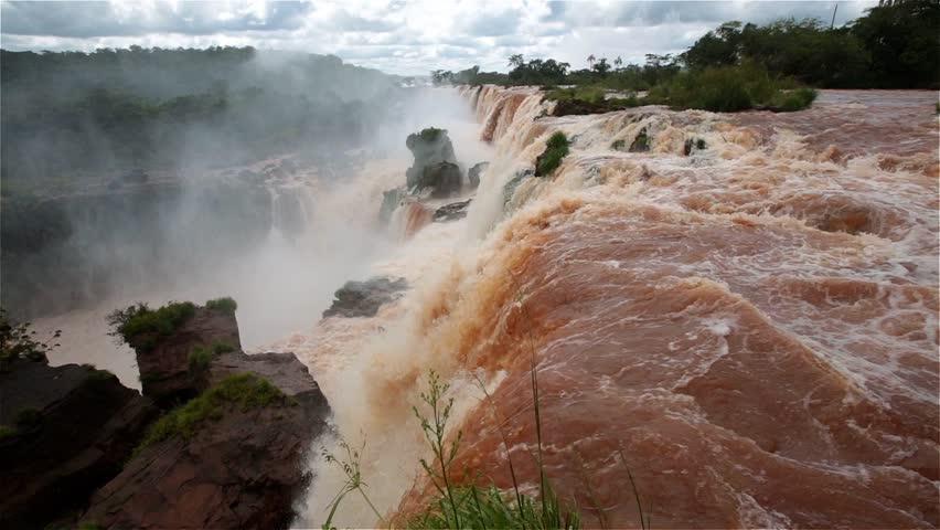 Iguassu Falls in Argentina - HD stock video clip