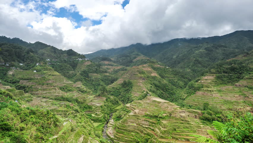 4K video of Rice Terraces in Philippines