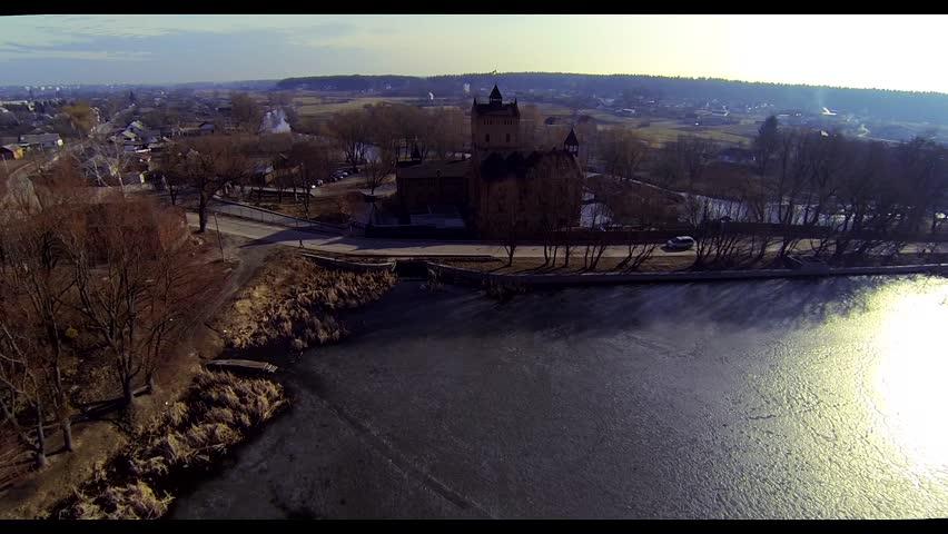 Aerial castle bird's-eye view | Shutterstock HD Video #9178772