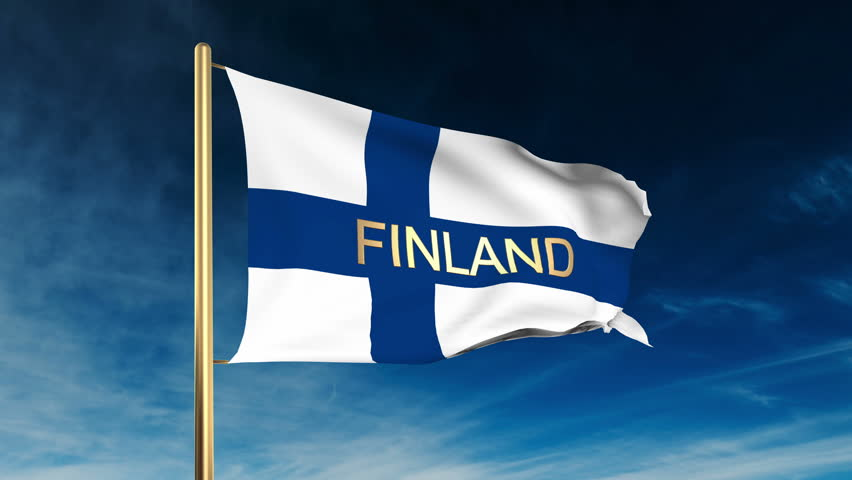 Flag Of Finland In The...