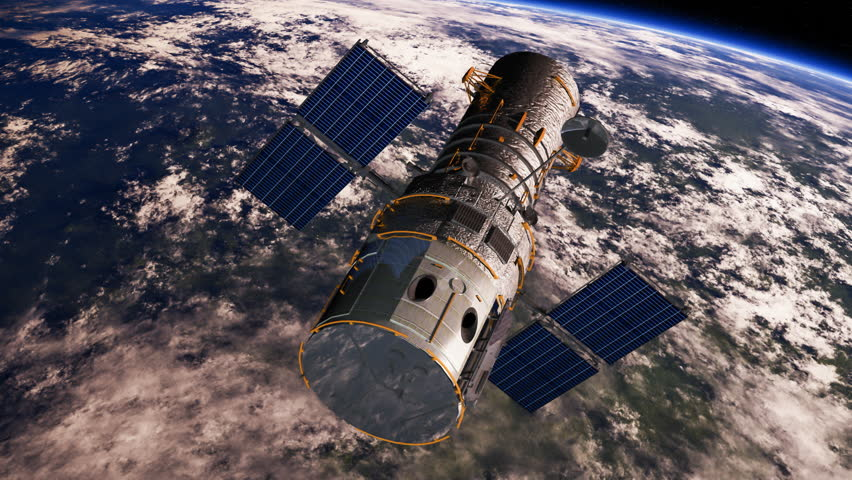 The Hubble Space Telescope (HST) is moving towards the shadow of the earth.