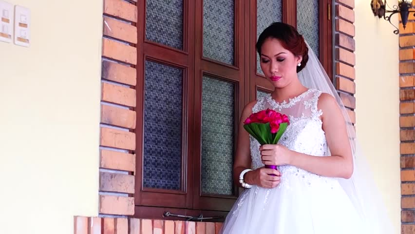 Bride walks poses for picture | Shutterstock HD Video #9258080