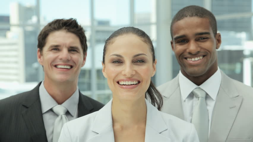 Happy Business Team Portrait - HD stock video clip