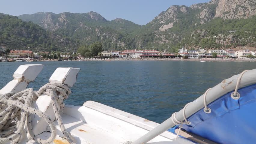 Boat Trip from Icmeler to Turunc, Marmaris, Anatolia, Turkey | Shutterstock HD Video #9334886