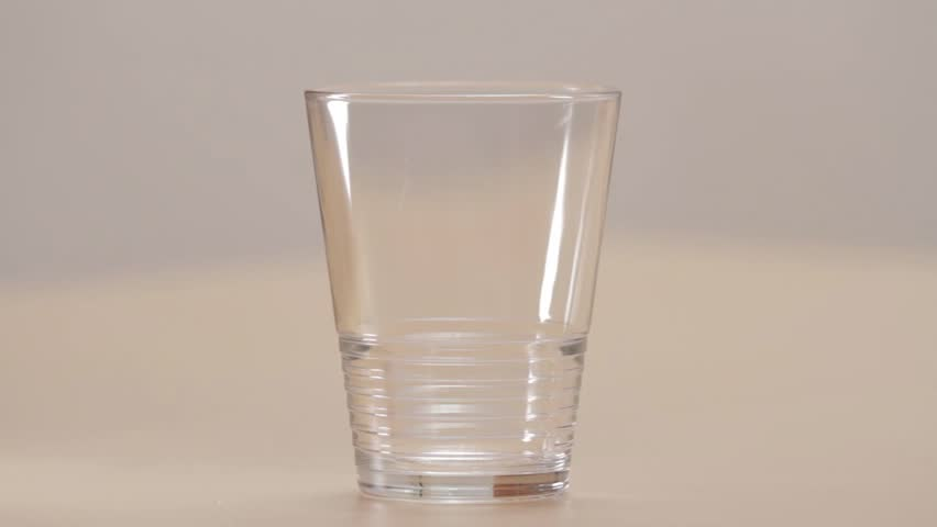 A Glass of Water  - HD stock video clip