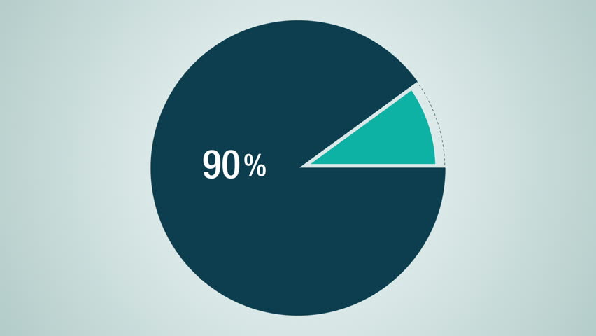 Circle Diagram For Presentation Pie Chart Indicated 60