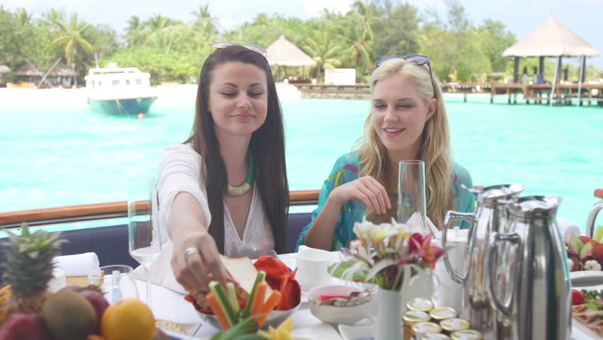 Best Girl Friends Starting Their Holiday Morning With Raw Food Breakfast | Shutterstock HD Video #9610835