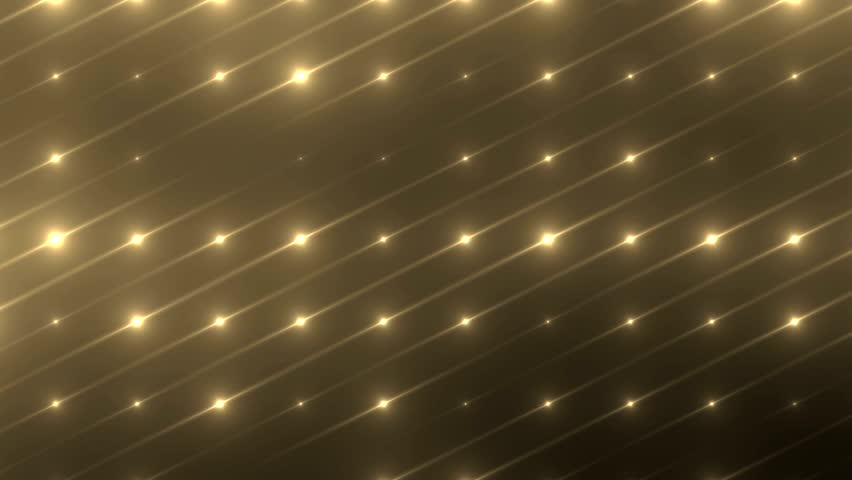 Flood lights disco background.  Flood lights flashing. Gold background. Seamless loop. look more options and sets footage in my portfolio  - HD stock video clip